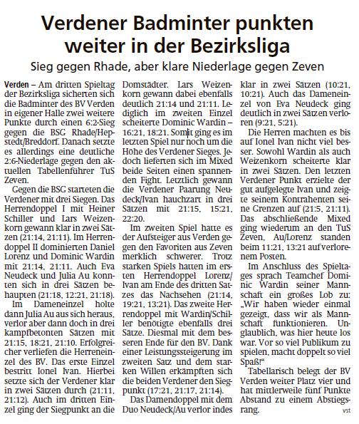 Bezirksligateam holt Sieg gegen Rhade/Hepstedt/Breddorf